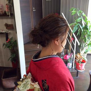 成人式 ナチュラル セミロング 結婚式 ヘアスタイルや髪型の写真・画像