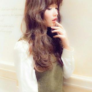 ゆるふわ 大人かわいい ピュア ロング ヘアスタイルや髪型の写真・画像