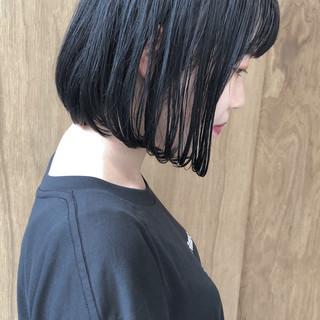 ショートボブ ボブ ナチュラル インナーカラー ヘアスタイルや髪型の写真・画像