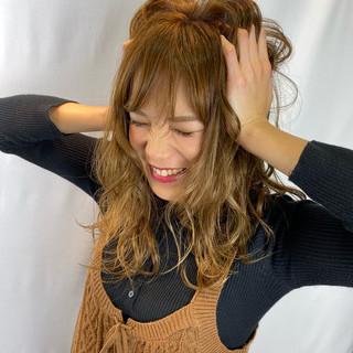 ガーリー エアリー イルミナカラー ナチュラル可愛い ヘアスタイルや髪型の写真・画像