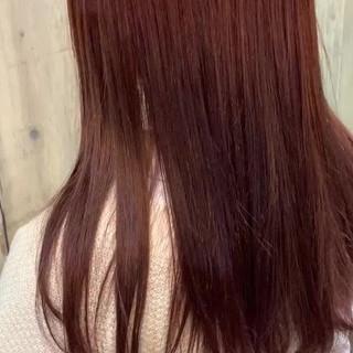 大人ミディアム ミディアム 大人かわいい ピンクブラウン ヘアスタイルや髪型の写真・画像
