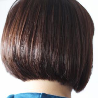 ロブ ナチュラル ショートボブ 田中美保 ヘアスタイルや髪型の写真・画像