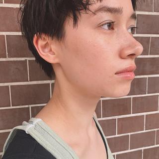 ショート デート パーマ ヘアアレンジ ヘアスタイルや髪型の写真・画像