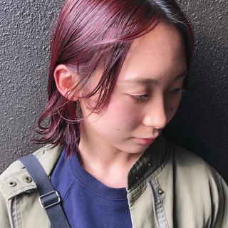 外ハネボブ ストリート ボブ 赤髪 ヘアスタイルや髪型の写真・画像