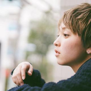 ショート 小顔 外国人風カラー ハイトーン ヘアスタイルや髪型の写真・画像 ヘアスタイルや髪型の写真・画像