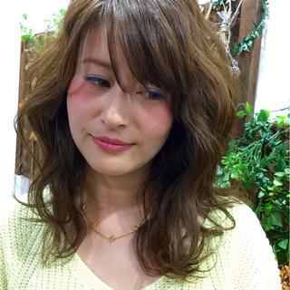 ゆるふわ モテ髪 フェミニン ガーリー ヘアスタイルや髪型の写真・画像