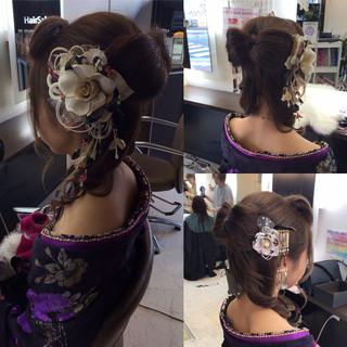 ロング 成人式ヘアメイク着付け 成人式 モード ヘアスタイルや髪型の写真・画像
