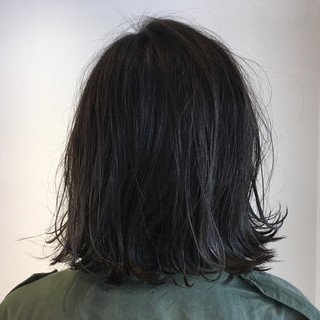 ボブ ハイライト ストリート 外ハネ ヘアスタイルや髪型の写真・画像