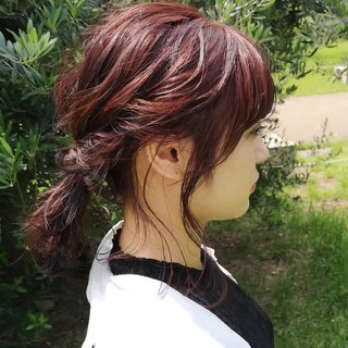 ガーリー ミディアム ラベンダーピンク 大人かわいい ヘアスタイルや髪型の写真・画像