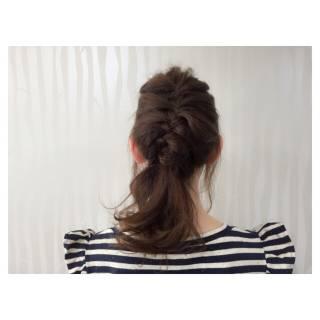 ガーリー 三つ編み ショート 編み込み ヘアスタイルや髪型の写真・画像