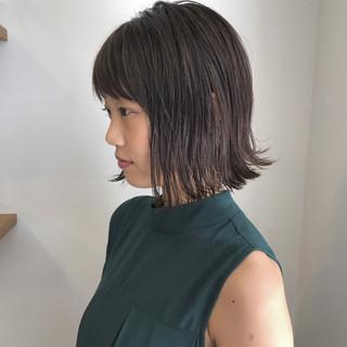 ナチュラル 外ハネ 秋 透明感 ヘアスタイルや髪型の写真・画像
