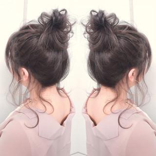 ストリート ルーズ お団子 ヘアアレンジ ヘアスタイルや髪型の写真・画像