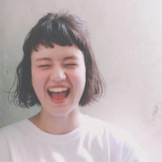ピュア ガーリー ボブ ショート ヘアスタイルや髪型の写真・画像