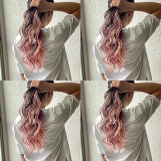 外国人風カラー グラデーションカラー エクステ ストリート ヘアスタイルや髪型の写真・画像