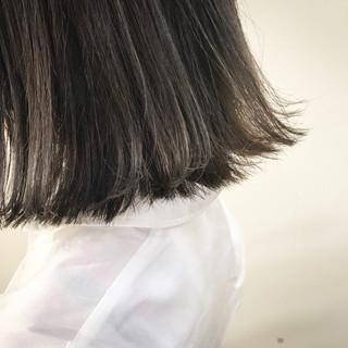 外国人風 ボブ 外ハネ 切りっぱなし ヘアスタイルや髪型の写真・画像