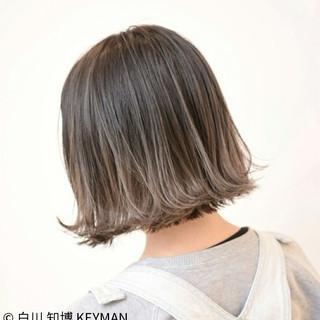 ストリート 小顔 色気 ボブ ヘアスタイルや髪型の写真・画像
