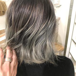 オフィス デート ヘアアレンジ セミロング ヘアスタイルや髪型の写真・画像