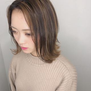 ボブ 透明感カラー 外国人風カラー ダブルカラー ヘアスタイルや髪型の写真・画像