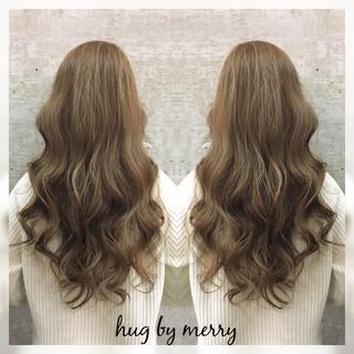 ガーリー ロング グラデーションカラー 外国人風 ヘアスタイルや髪型の写真・画像