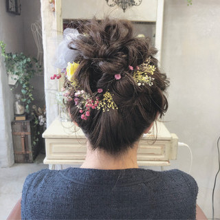 謝恩会 ロング 結婚式 成人式 ヘアスタイルや髪型の写真・画像