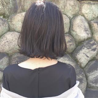アッシュ 外国人風 ボブ ナチュラル ヘアスタイルや髪型の写真・画像