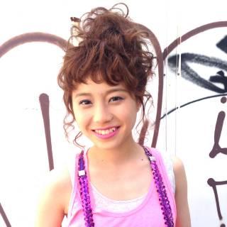 フェミニン ストリート 大人かわいい アップスタイル ヘアスタイルや髪型の写真・画像