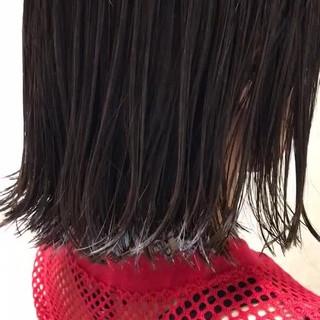 色気 外国人風カラー ハイライト 外ハネ ヘアスタイルや髪型の写真・画像