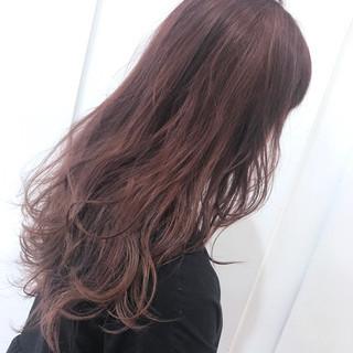 ダブルカラー ロング ハイトーンカラー グラデーションカラー ヘアスタイルや髪型の写真・画像