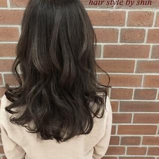 冬 ハイライト ナチュラル グラデーションカラー ヘアスタイルや髪型の写真・画像