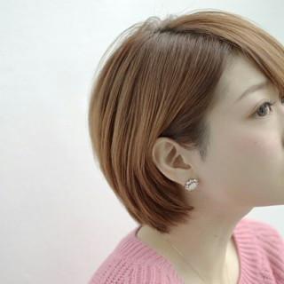 艶髪 ショート ストレート 大人かわいい ヘアスタイルや髪型の写真・画像 ヘアスタイルや髪型の写真・画像