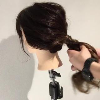 ショート セミロング ヘアアレンジ 時短 ヘアスタイルや髪型の写真・画像 ヘアスタイルや髪型の写真・画像