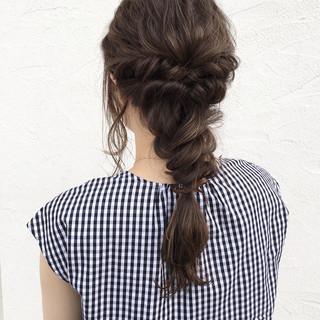 ヘアアレンジ ロング 大人かわいい ナチュラル ヘアスタイルや髪型の写真・画像