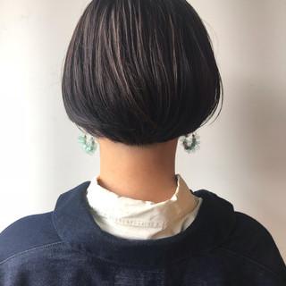 大人かわいい 女子力 ショートボブ ナチュラル ヘアスタイルや髪型の写真・画像