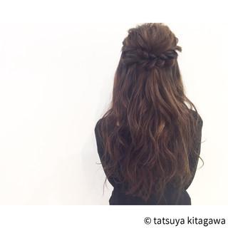 ヘアアレンジ ハーフアップ エレガント ゆるふわ ヘアスタイルや髪型の写真・画像