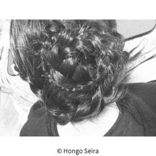 簡単ヘアアレンジ ロング 黒髪 編み込み ヘアスタイルや髪型の写真・画像