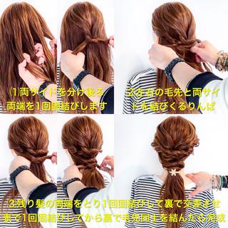 アウトドア ヘアアレンジ ロング オフィス ヘアスタイルや髪型の写真・画像