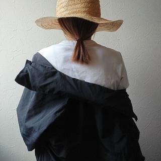 麦わら帽子 夏 ナチュラル 前髪パッツン ヘアスタイルや髪型の写真・画像