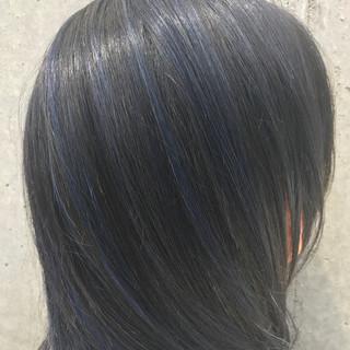 ストリート アッシュ ミディアム ブルージュ ヘアスタイルや髪型の写真・画像