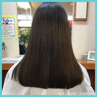 ブルージュ 暗髪 ワンレングス ナチュラル ヘアスタイルや髪型の写真・画像 ヘアスタイルや髪型の写真・画像