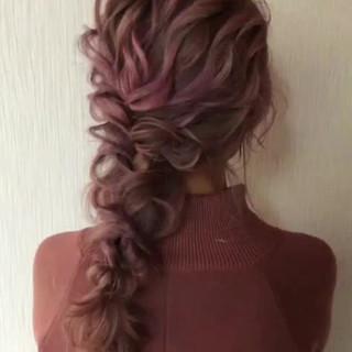 ゆるナチュラル 結婚式ヘアアレンジ ロング 結婚式髪型 ヘアスタイルや髪型の写真・画像
