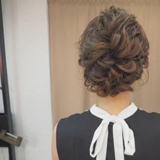 簡単ヘアアレンジ ミディアム 外国人風 編み込み ヘアスタイルや髪型の写真・画像