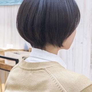 ショートボブ ボブ ミニボブ ショートカット ヘアスタイルや髪型の写真・画像