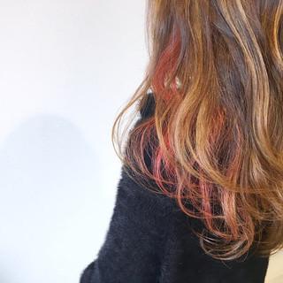 ガーリー ハイライト 夏 ゆるふわ ヘアスタイルや髪型の写真・画像