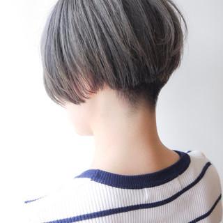モード 大人かわいい ショートボブ ショート ヘアスタイルや髪型の写真・画像