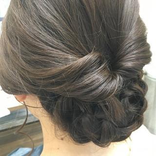 フェミニン 女子会 デート ヘアアレンジ ヘアスタイルや髪型の写真・画像