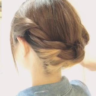 ヘアアレンジ ミディアム ショート 外国人風 ヘアスタイルや髪型の写真・画像