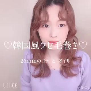 ストリート セルフヘアアレンジ 韓国風ヘアー ヘアアレンジ ヘアスタイルや髪型の写真・画像