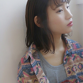 アンニュイ 暗髪 ゆるふわ ヘアアレンジ ヘアスタイルや髪型の写真・画像