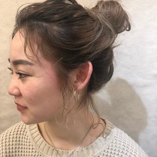 ナチュラル オフィス デート ヘアアレンジ ヘアスタイルや髪型の写真・画像