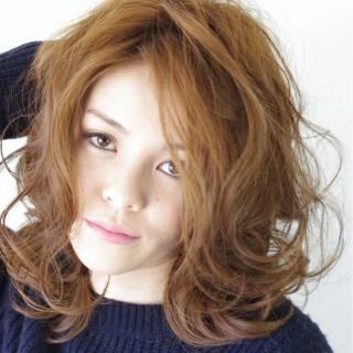 外国人風 大人かわいい ミディアム ゆるふわ ヘアスタイルや髪型の写真・画像
